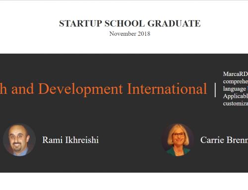 Marca RDI – Startup School Graduate