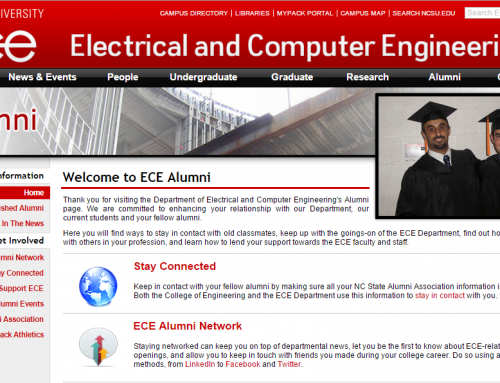 U.S. Manager Mr. Rami Ikhreishi was included in the Alumni website of NCSU in Raleigh